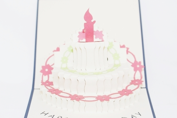3D Birthday Cake 1 Year, Greeting Card, GAS_0097