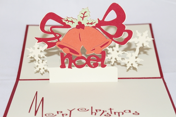 3D Christmas Bells, Greeting Card, GAS_0125