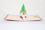 3D Christmas Tree W/ Snowman, Greeting Card, GAS_0064