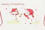3D Merry Christmas Boy, Greeting Card, GAS_0103