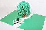 3D Willow Tree Love Scene, Greeting Card, GAS_0137