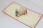 3D White Christmas, Greeting Card, GAS_0247