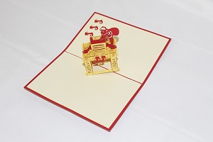 3D Santy and Chimney, Greeting Card, GAS_0233