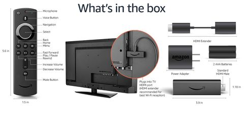 Amazon Fire TV Stick Box Content