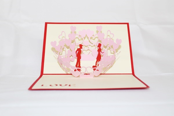 3d love couple kissing greeting card gas 0040