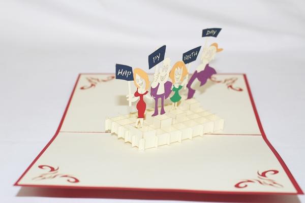 3D Happy Birthday Greeting Card GAS 0258