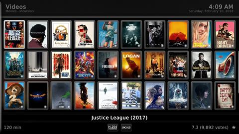 Kodi Main Movie Menu