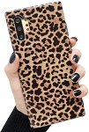 Leopard Print Pattern Wildcat Series Soft Rubber Case Cover Samsung Galaxy Note 10 or Note 10 Plus