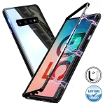Magnetic Adsorption Metal Case With Tempered Glass Samsung Galaxy Note 10 or Note 10 Plus