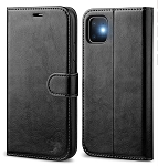 Leather Wallet Magnetic Flip Case with strap Apple iPhone 11 Pro, 11, or 11 Pro Max