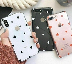 Heart Shape Print Pattern Soft Rubber Case Cover Apple iPhone 7 or 7 Plus