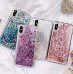 Liquid Glitter Heart Shapes Bling Quicksand Case iPhone 8 or 8 Plus