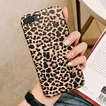 Leopard Print Pattern Wildcat Series Soft Rubber Case Cover Apple iPhone 8 or 8 Plus