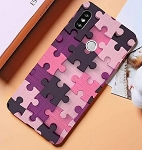 Puzzle Pieces Print Pattern Puzzle Series Soft Rubber Case Cover Apple iPhone SE 2020 (Gen2)
