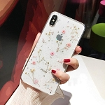 Floral Print Pattern Floret Series Soft Rubber Case Cover Apple iPhone X, XS, XR, or XS Max