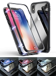 Magnetic Adsorption Metal Case With Tempered Glass Apple iPhone X, XS, XR, or XS Max
