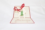 3D Reindeer, Greeting Card, GAS_0019