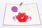 3D Flower and Butterflies, Greeting Card, GAS_0020