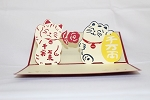3D Lucky Cats, Greeting Card, GAS_0035
