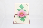 3D Pink Flower, Greeting Card, GAS_0060