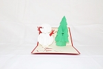 3D Christmas Snowman, Greeting Card, GAS_0065