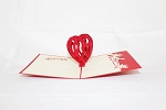 3D Red Heart, Greeting Card, GAS_0068