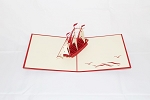 3D Red Ship, Greeting Card, GAS_0081