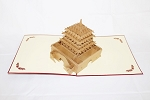 3D Chinese Temple, Greeting Card, GAS_0082