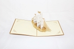 3D White Ship, Greeting Card, GAS_0087