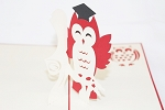 3D Graduation Owl, Greeting Card, GAS_0089