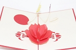 3D Flower with Butterflies, Greeting Card, GAS_0093