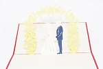 3D Wedding Couple, Greeting Card, GAS_0106