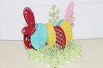 3D Easter Eggs w/ Butterflies, Greeting Card, GAS_0113