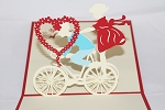 3D Boy and Girl on Bicycle, Greeting Card, GAS_0117