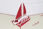 3D Sailing Boat, Greeting Card, GAS_0118