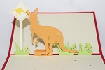 3D Kangaroo, Greeting Card, GAS_0119
