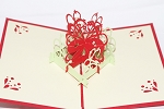 3D Red Flower, Greeting Card, GAS_0127