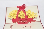 3D Flower Basket, Greeting Card, GAS_0132