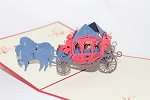 3D Horse Carriage, Greeting Card, GAS_0133