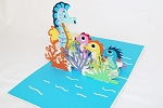 3D Father Seahorse, Greeting Card, GAS_0142