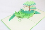 3D Alligator, Greeting Card, GAS_0154