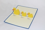 3D Duck with Baby, Greeting Card, GAS_0161
