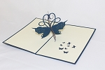3D Blue Flower, Greeting Card, GAS_0177
