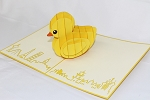 3D Baby Duck, Greeting Card, GAS_0185