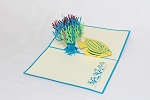 3D Fish Coral Reef, Greeting Card, GAS_0186