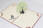 3D Willow Tree, Greeting Card, GAS_0197