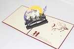 3D Couple on Bridge, Greeting Card, GAS_0198