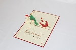 3D Santa & Snowman, Greeting Card, GAS_0239