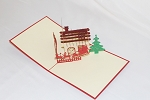 3D House and Christmas Tree, Greeting Card, GAS_0244