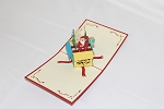 3D Santa in a Box, Greeting Card, GAS_0253
